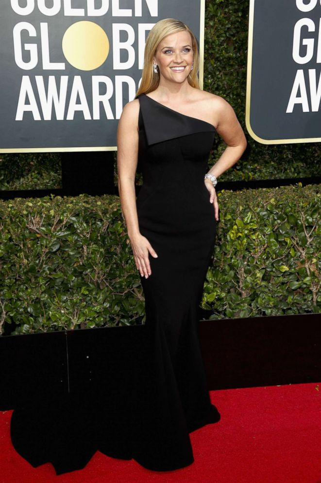 PHOTO: Reese Witherspoon attends The 75th Annual Golden Globe Awards at The Beverly Hilton Hotel, Jan. 7, 2018, in Beverly Hills, Calif.