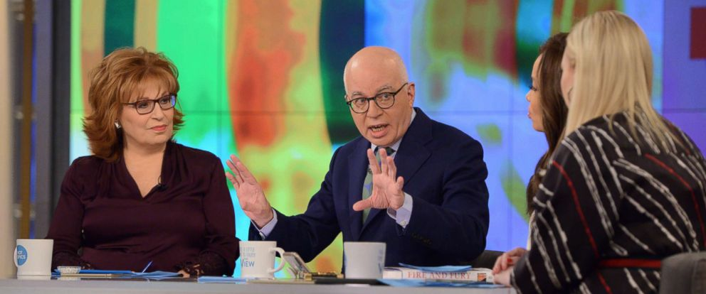 """PHOTO: Fire and Fury author Michael Wolff spoke to """"The View"""" about fallout from his bombshell book."""