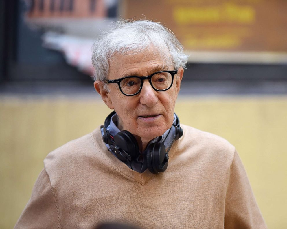PHOTO: Woody Allen seen at a film set in Manhattan, Sept. 11, 2017 in New York.
