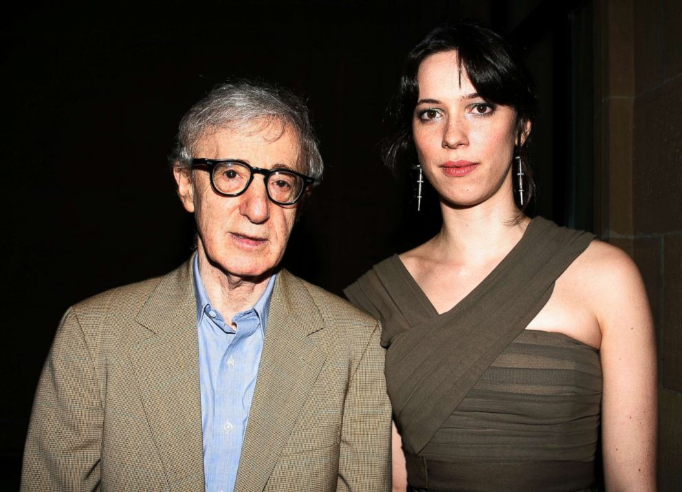 PHOTO: Woody Allen and Rebecca Hall attend the Kursaal Palace Gala Opening Night for Vicky Cristina Barcelona at the 56th Festival de San Sebastian Donstia in San Sebastian, Spain, Sept. 18, 2008.