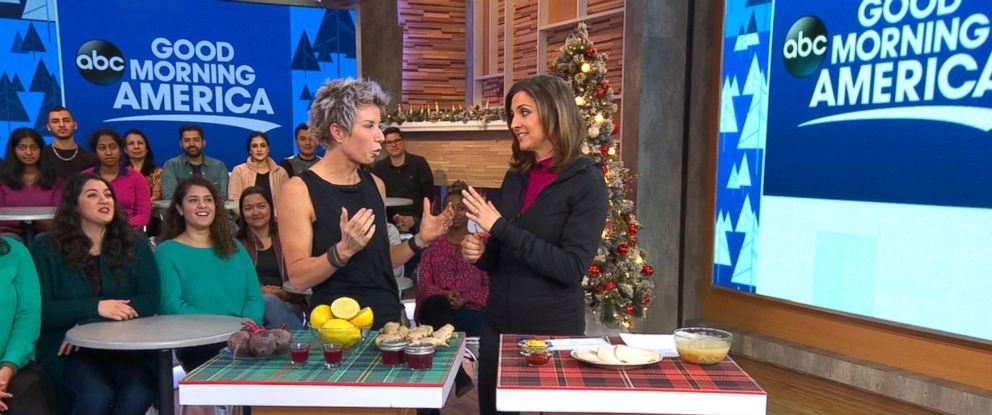 "PHOTO: Erin Oprea, Carrie Underwoods trainer, shares a post-Christmas workout to do at home on ""Good Morning America,"" Dec. 26, 2017."