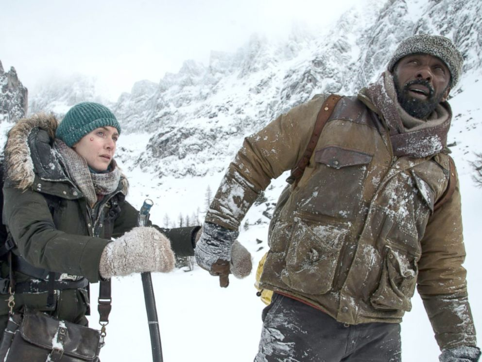 PHOTO: Kate Winslet and Idris Elba in The Mountain Between Us.
