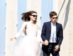 PHOTO:Keira Knightley and James Righton arrive at the Mazan Town for their wedding at the French provencal village of Mazan for a small romantic ceremony May 4, 2013.