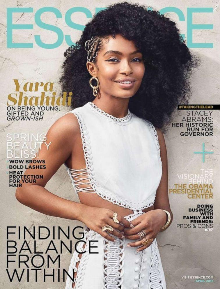 PHOTO: Yara Shahidi appears on the cover of Essence Magazine, April 2018.