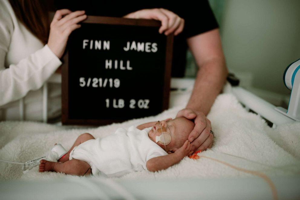 PHOTO: Finn James Hill, lovingly nicknamed Fighting Finn, was released from Nemours Childrens Hospital in Orlando Florida, Sept. 10.