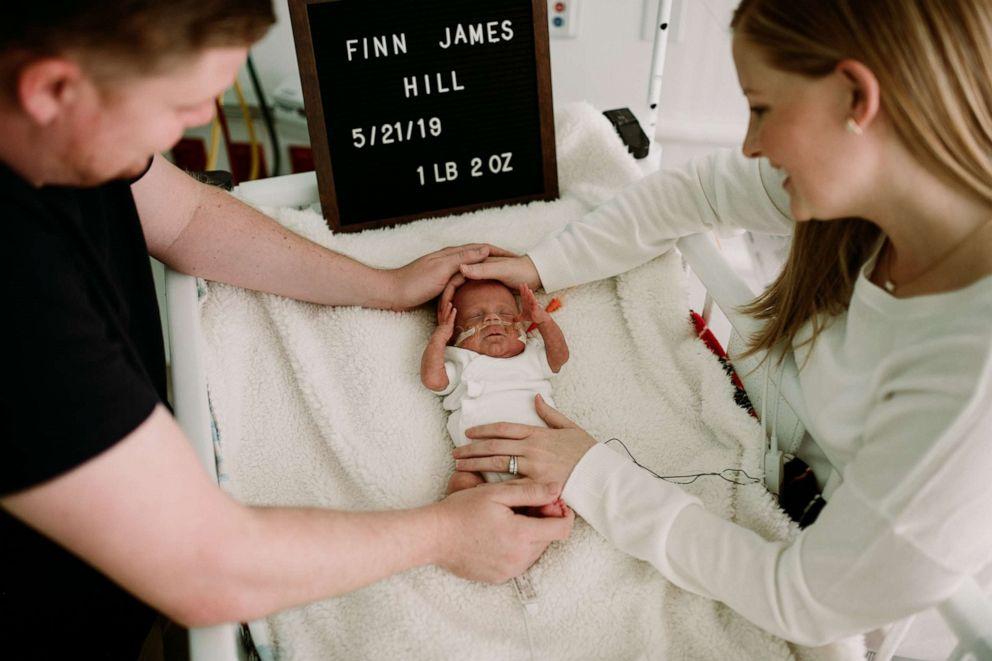 PHOTO: Finn James Hill, lovingly nicknamed Fighting Finn, was released from Nemours Childrens Hospital in Orlando Sept. 10.
