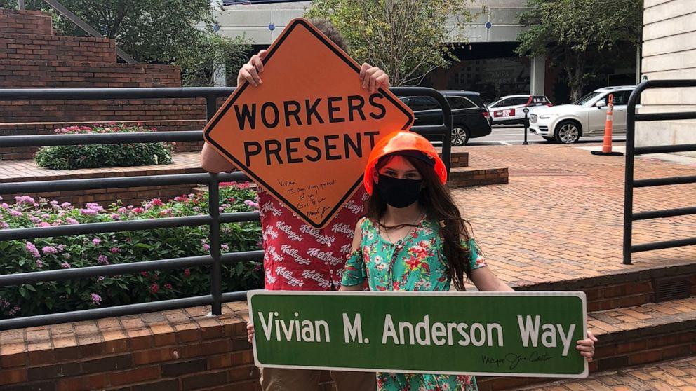 A little girl has made a big change in her city by writing a letter to officials requesting more inclusive signage near construction zones.