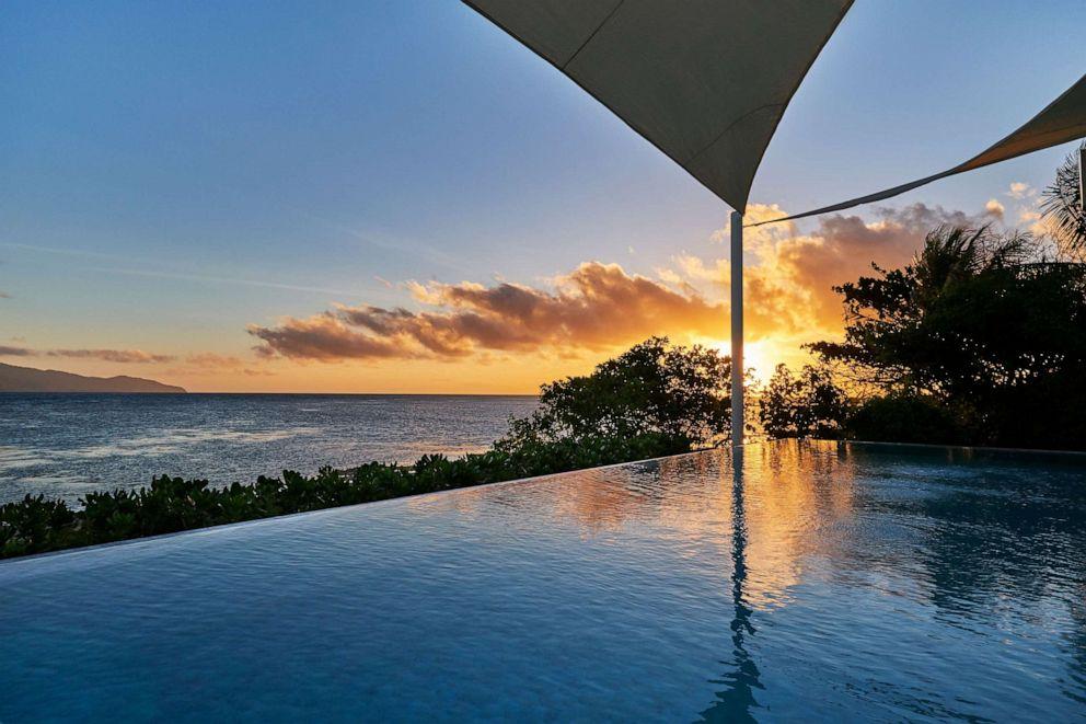 PHOTO: Sunrise at Banwa Private Island.
