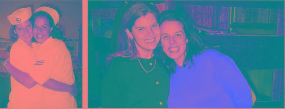 PHOTO: Anna and Renee McInarnaay as teenagers.