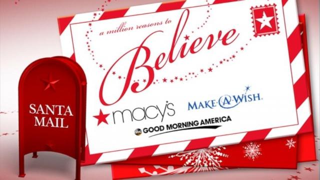 Make-A-Wish, Macy's Make Christmas Wishes Come True