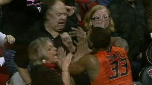 Marcus Smart shoves fan in loss