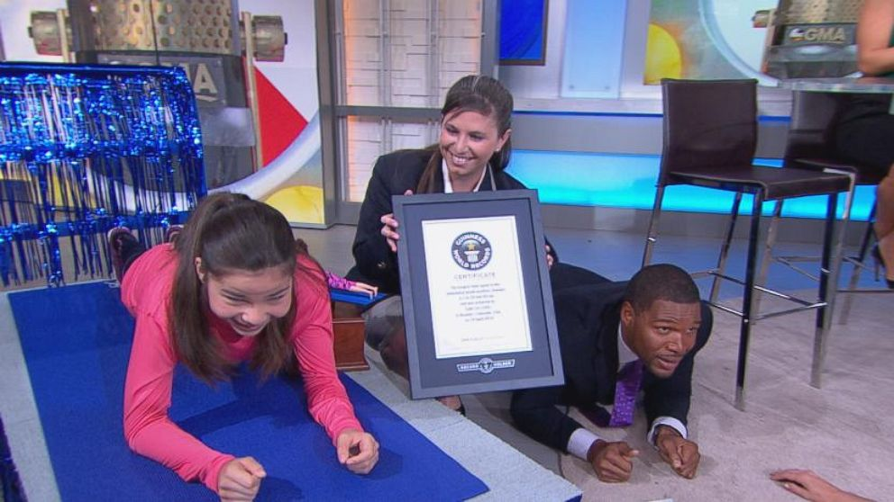 VIDEO: Gabi Uri held her plank for 80 minutes to raise money for Childrens Hospital Colorado.