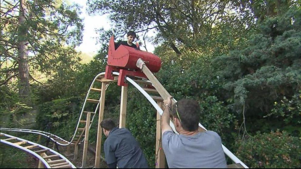 Dad Builds Roller Coaster in Backyard - Dad Builds Roller Coaster In Backyard Video - ABC News