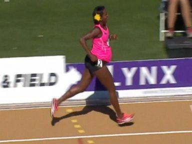 VIDEO: Pregnant Olympian Runs at US Championship