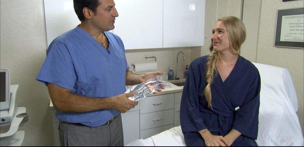 VIDEO: N.Y. plastic surgeon Dr. Norman Rowe says injecting patients breasts with saline solution gives them instant lift and fullness for 24 hours.
