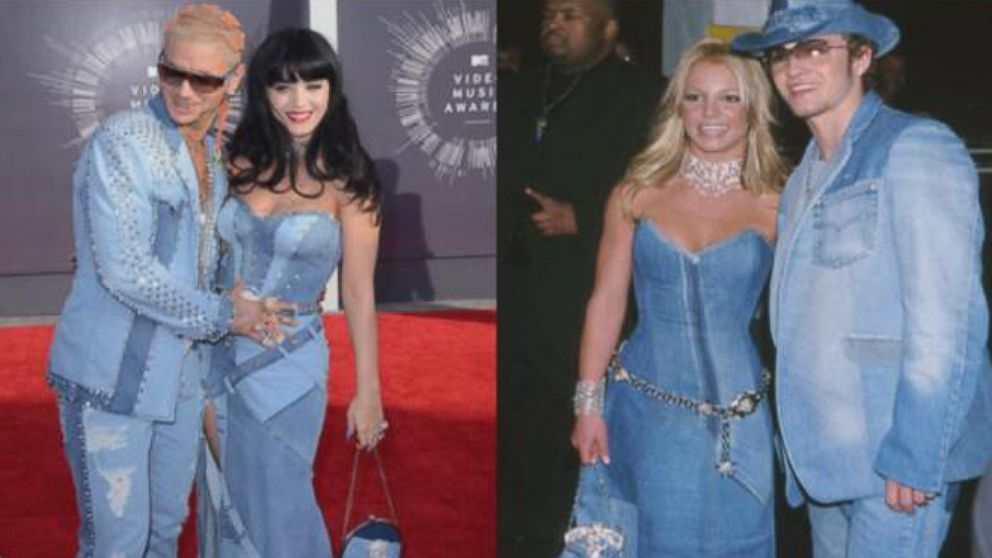 Britney Spears Reacts To Katy Perry S Throwback Denim Dress Video Abc News