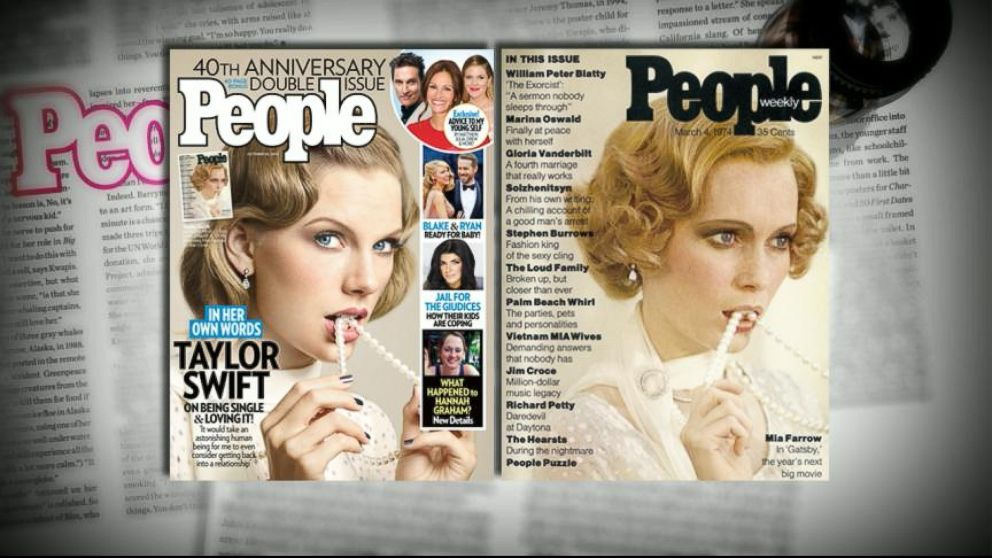 Taylor Swift Re-Creates People's Inaugural Mia Farrow Cover for 40th Anniversary Edition