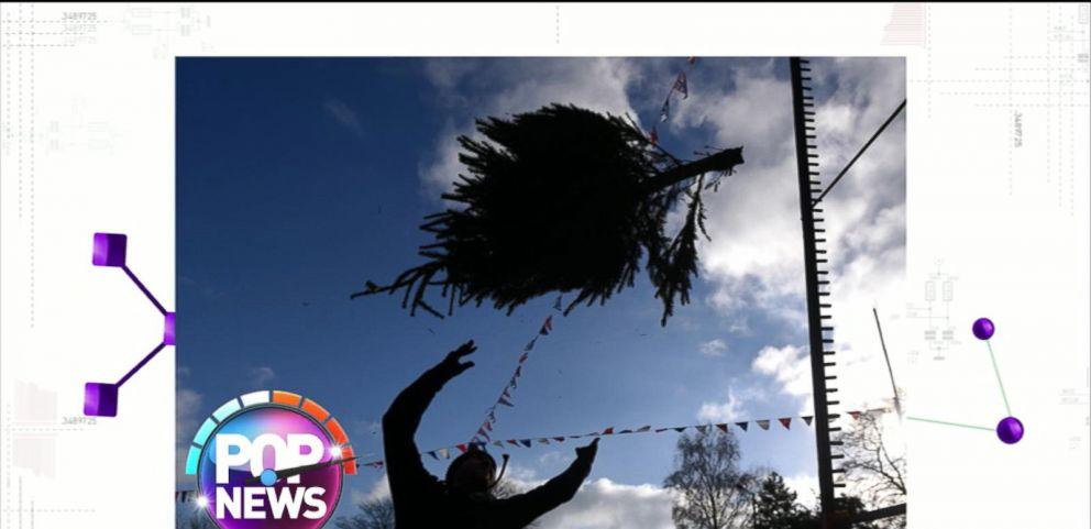 U.K. Farm Hosts Christmas Tree-Throwing Contest