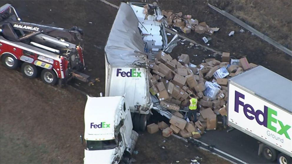 New Jersey Highway Crash Sends FedEx Packages Flying 10 Days Before