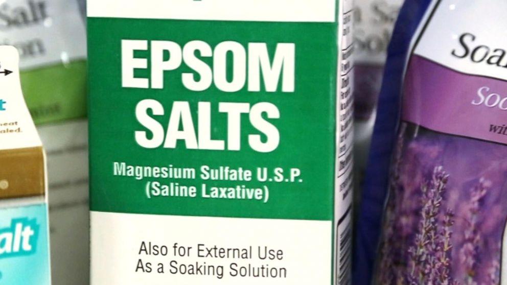 does epsom salt really help sore muscles video abc news. Black Bedroom Furniture Sets. Home Design Ideas