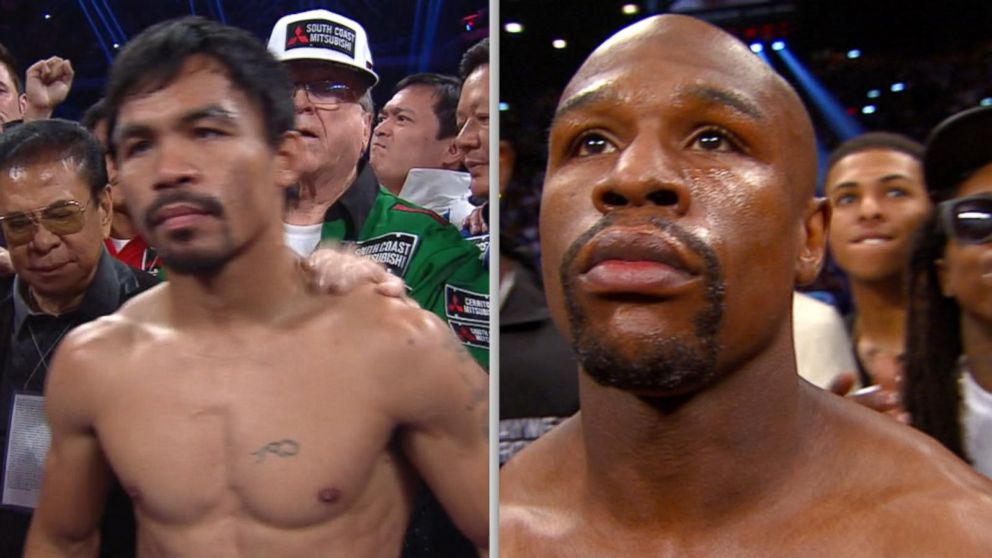 Floyd Mayweather Jr., Manny Pacquiao Face Off in Vegas Match Video ...