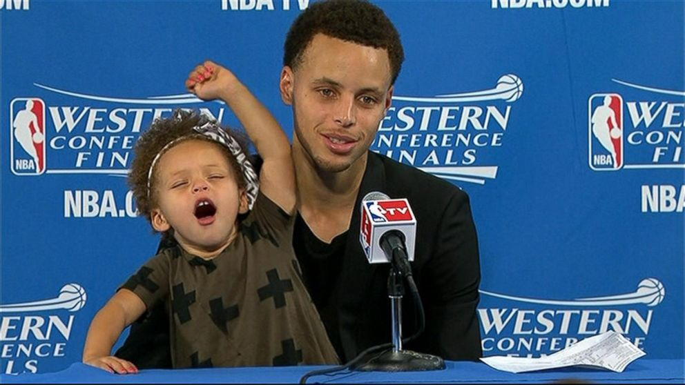 43b99a9897be buffering. Replay. NBA Star Stephen Curry s Daughter Steals Show at News  Conference