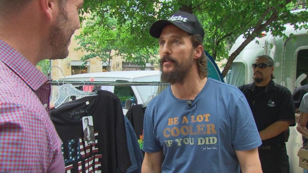 Matthew Mcconaughey Launches Just Keep Livin Clothing
