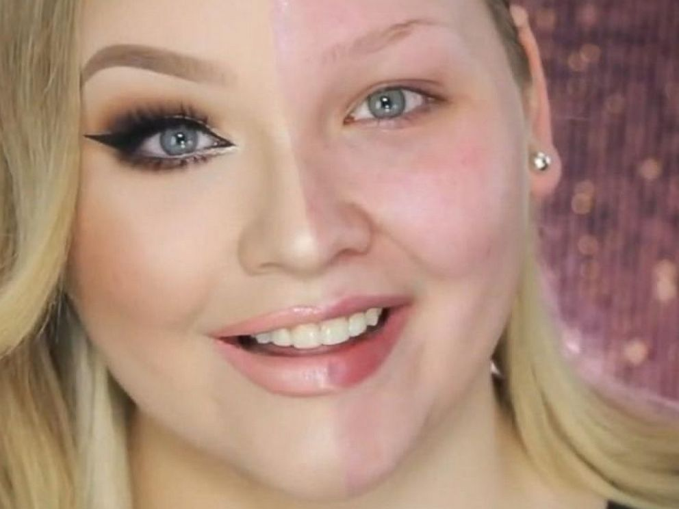 Half Face Makeup Transformation