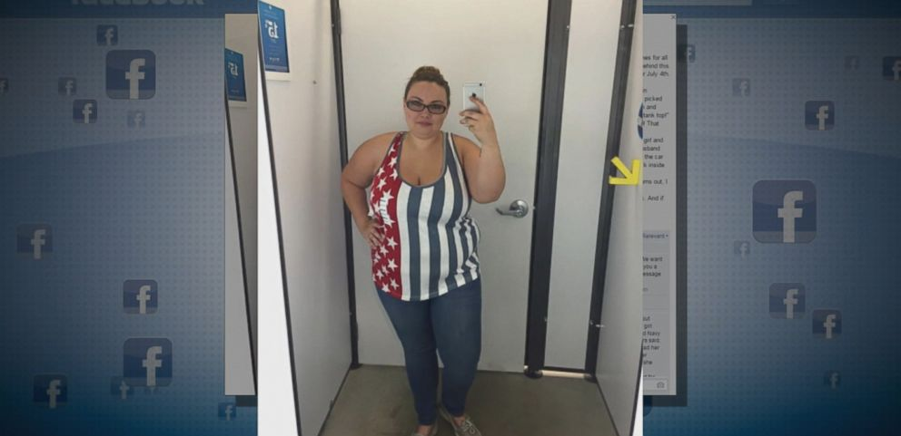 VIDEO: Rachel Taylor snapped a selfie of her trying on a plus-sized tank top after witnessing a mother laughing at her own daughter.