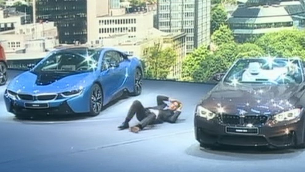 Bmw Ceo Collapses During Auto Show Event
