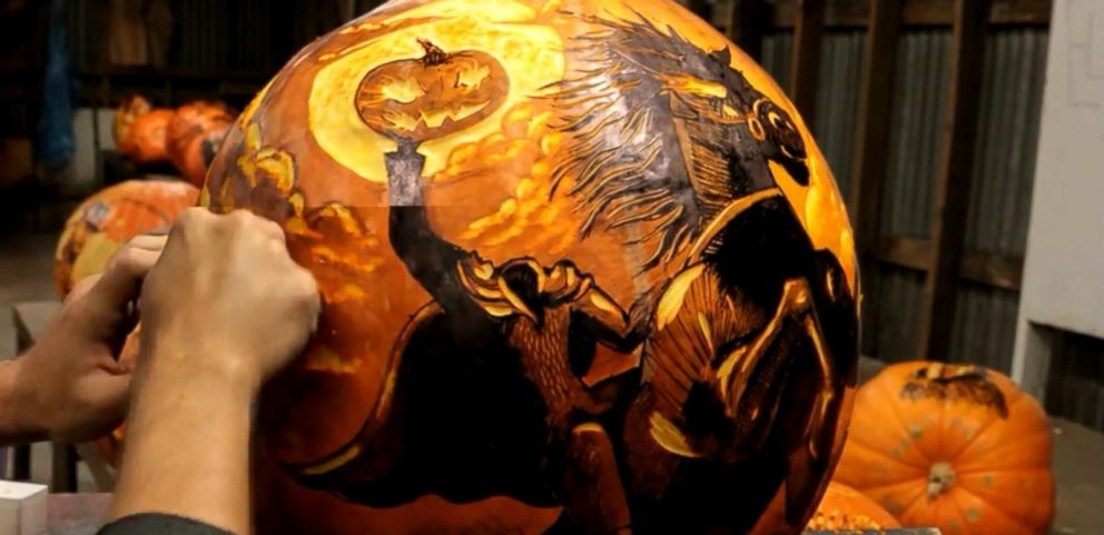 pumpkin carving artist creates spectacularly spooky masterpieces