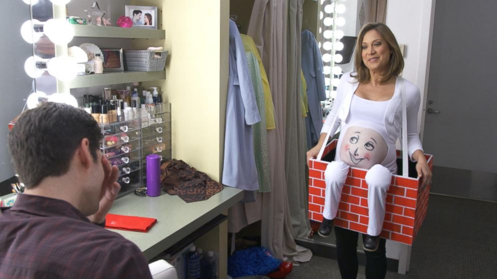 00f01260a53dd Ginger Zee's Maternity Costume Search Video - ABC News