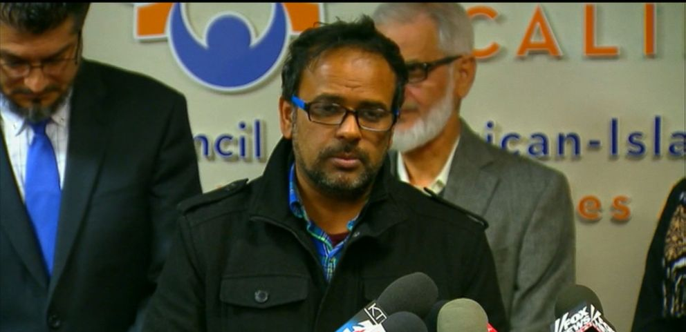 "VIDEO: Farhan Khan, who said he was the brother-in-law of Syed Farook, told reporters he ""cannot express how said I am for what happened today"" during a press conference with the Council on American-Islamic Relations."