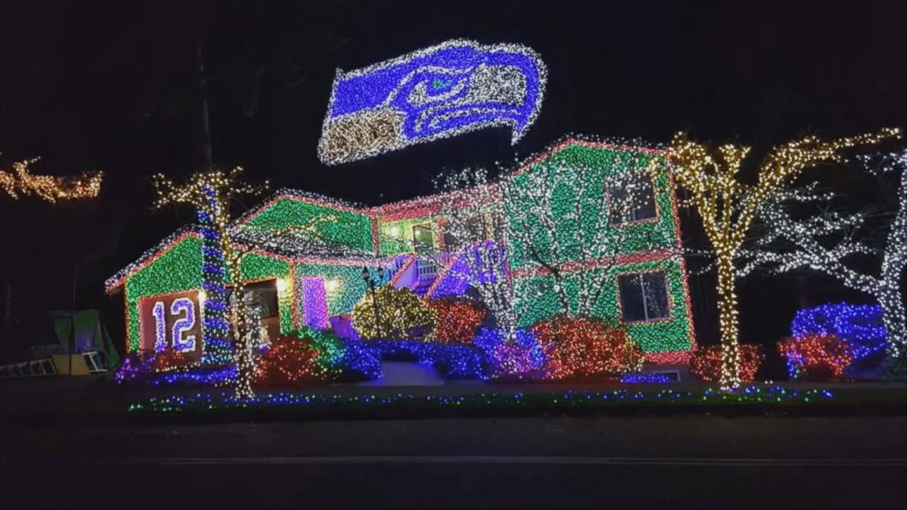 this nfl themed christmas display is even too much for hometown fans abc news