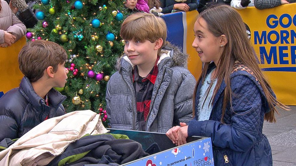 Kids Accept Mission to Collect Coats for Those in Need