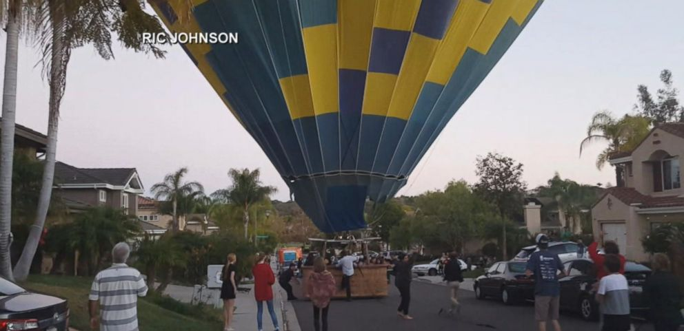 VIDEO: Hot Air Balloon Crashes Into San Diego Neighborhood