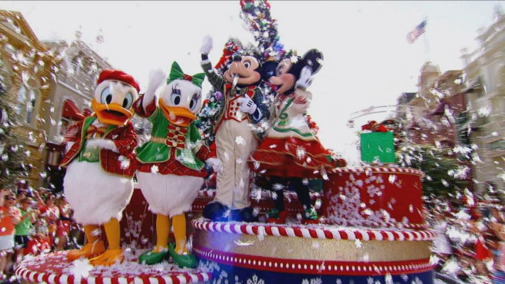 inside the annual walt disney world christmas parade
