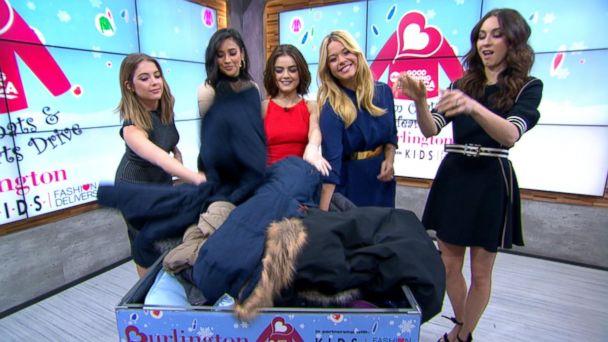 'Pretty Little Liars' Stars Donate Coats on 'GMA'