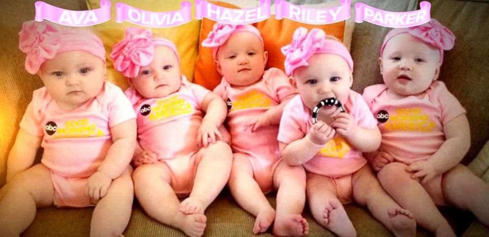 VIDEO: First All-Girl Quintuplets Appear on GMA