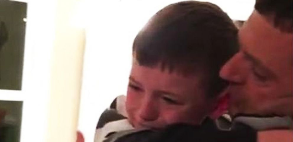 VIDEO: Boy Overcome With Emotion When Dad Returns From Deployment