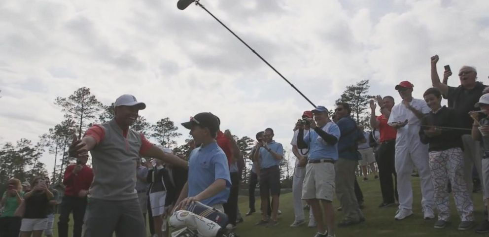 VIDEO: Tiger Woods Reacts to 11-Year-Olds Hole in One