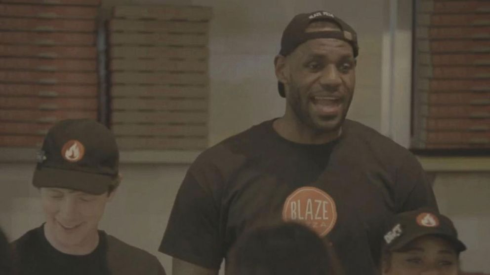 6699739a0db LeBron James Surprises Pizza Customers by Working Behind the Counter ...