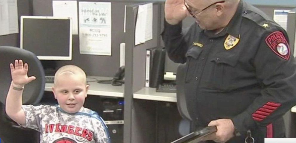 VIDEO: 7-Year-Old Sworn In as Honorary Cop