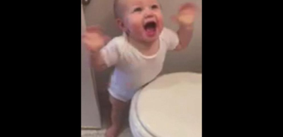 VIDEO: Toddler Amazed By Hair Dryer