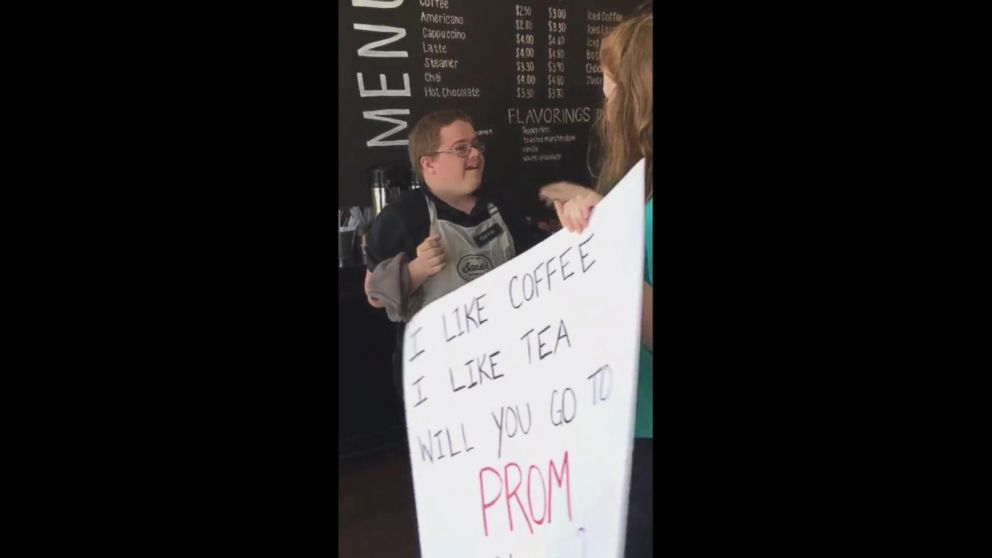 Teens Coffee Shop Promposal For Friend With Down Syndrome Will
