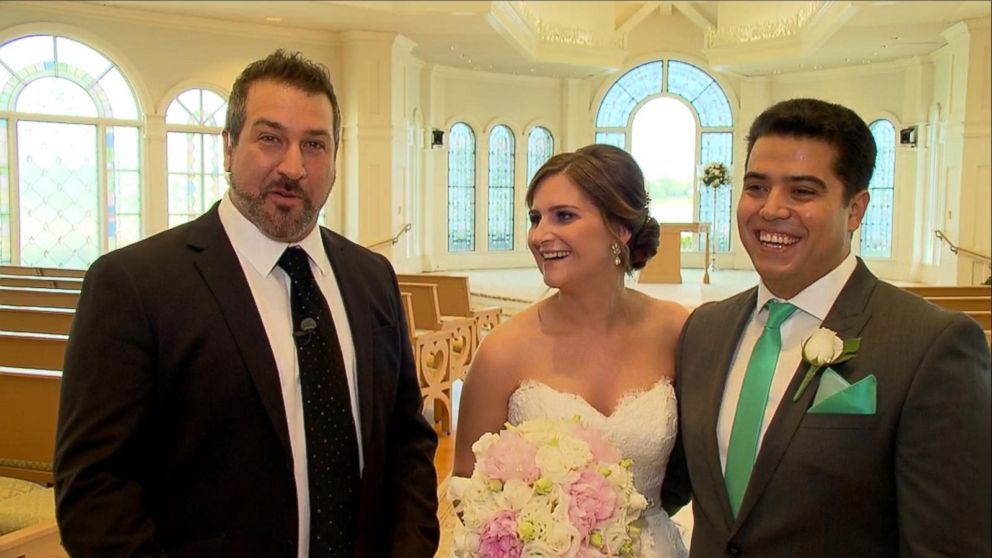 Joey Fatone Chats With Newlyweds After Their Magical Disney Wedding