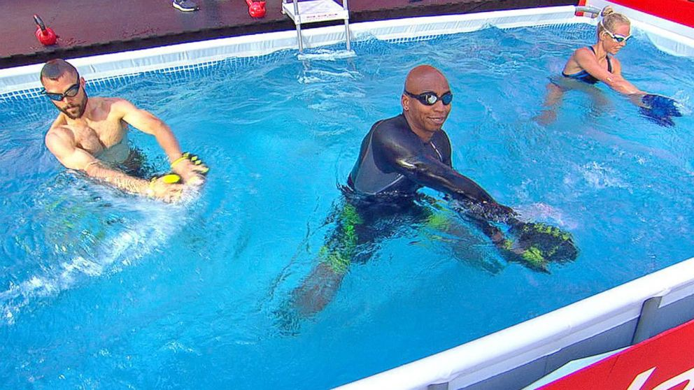 Water Workout How To Get Fit Like A Swimmer Video Abc News