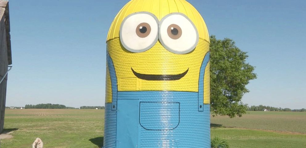 VIDEO: Kathy Stark and her family used 14 gallons of paint to give their silo an animated makeover.