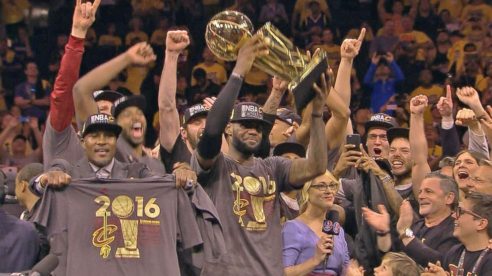 3709ab397f5 Cleveland Cavaliers Defeat Golden State Warriors to Win NBA Finals - ABC  News