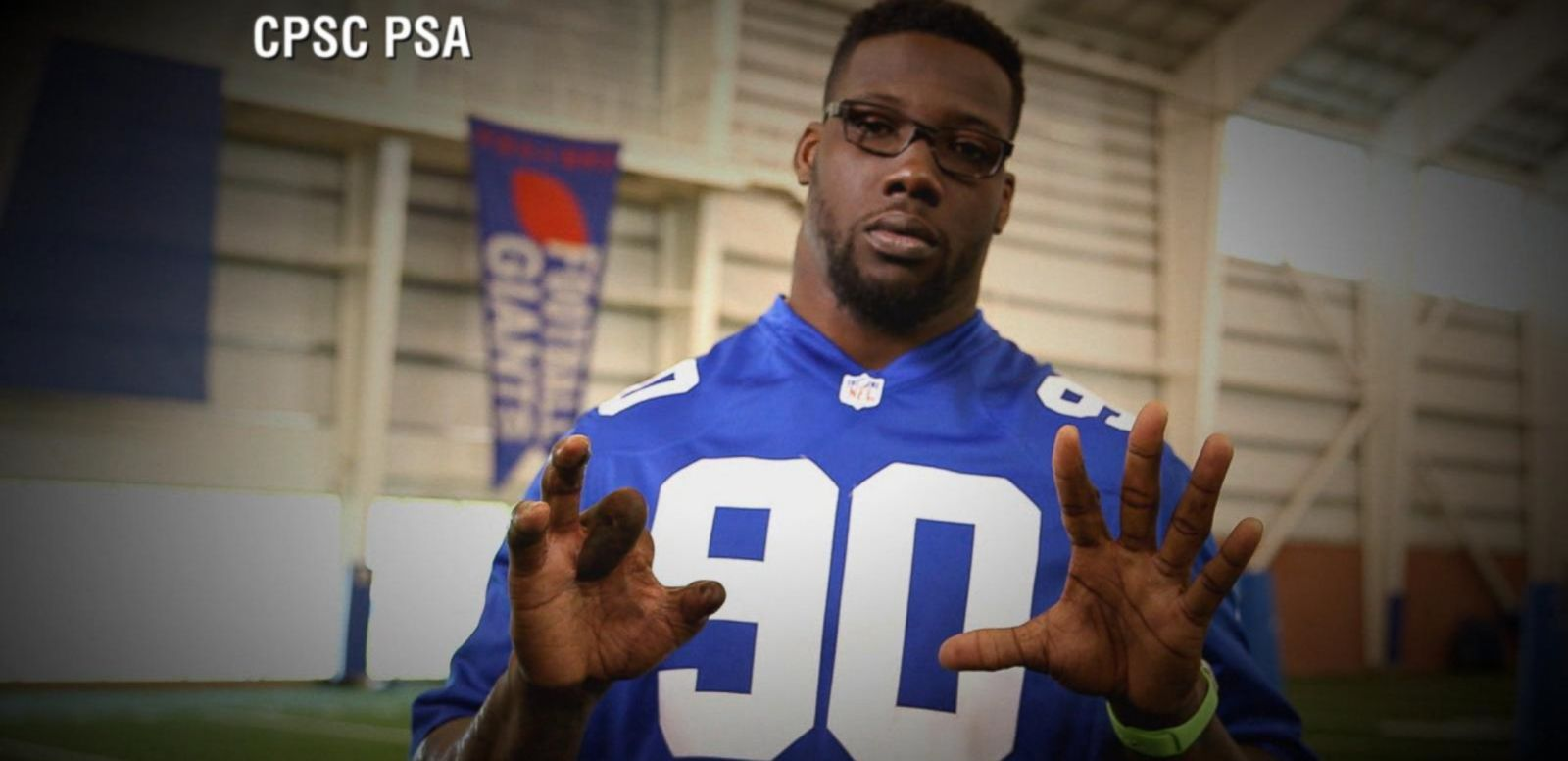 VIDEO: Exclusive: Jason Pierre-Paul in Fireworks Safety PSA